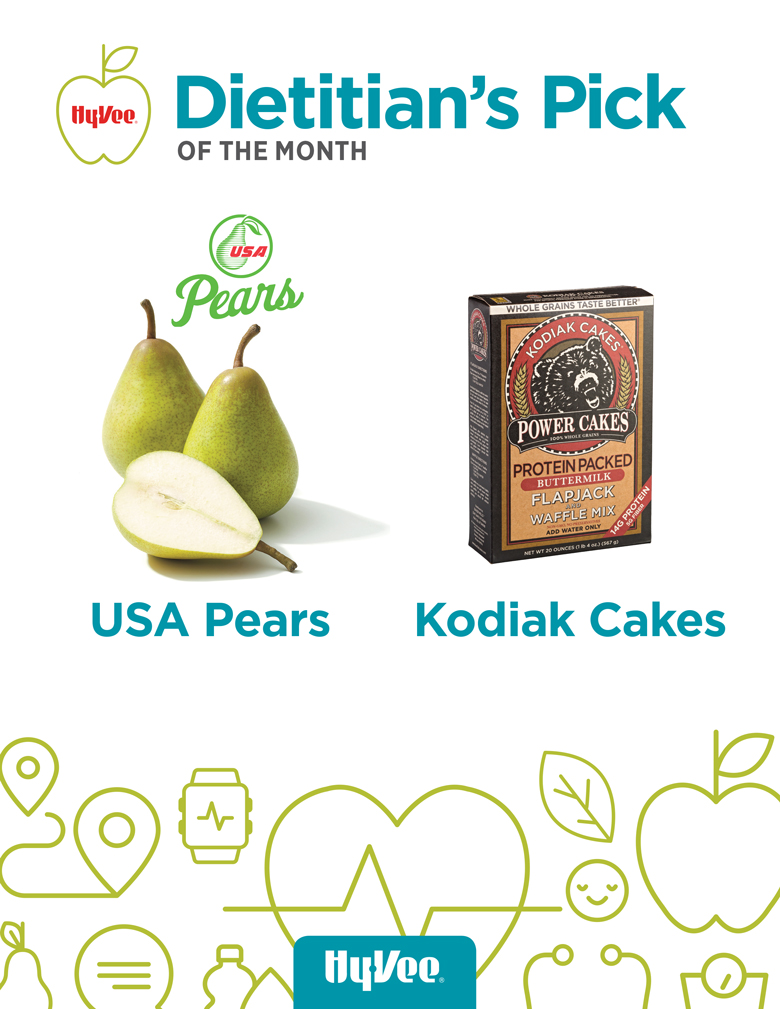 December Dietitian Pick of the Month - USA Pears and Kodiak Cakes