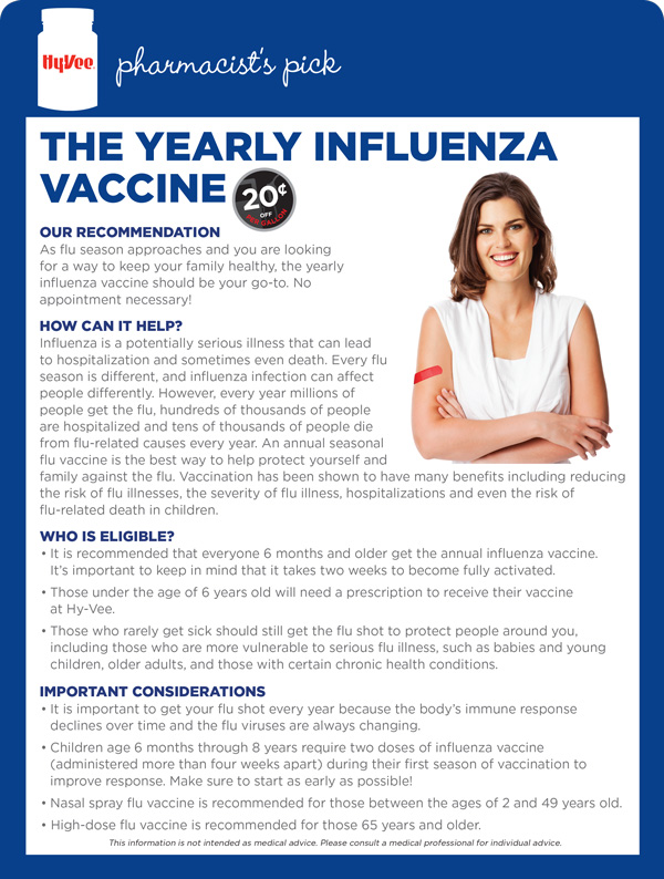 Sept Pharm Pick - Influenza Vaccine