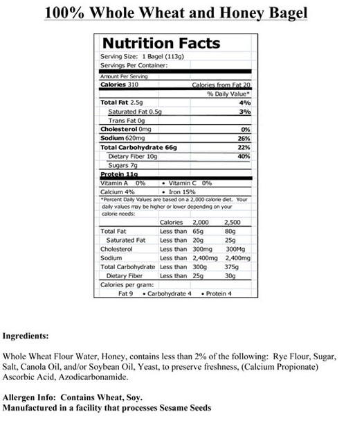 100% Whole Wheat Mini Bagels | Thomas' |Whole Wheat Bagel Nutrition Facts