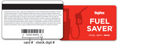 Fuel Saver Card Front and Back