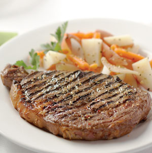 Grilled Chicago-Style Rib Eye Steaks - Recipe