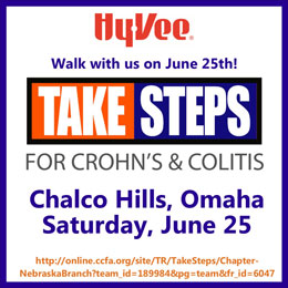 Take Steps for Crohns and colitis