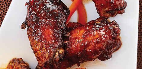 Agave-Chipotle-Glazed Wings