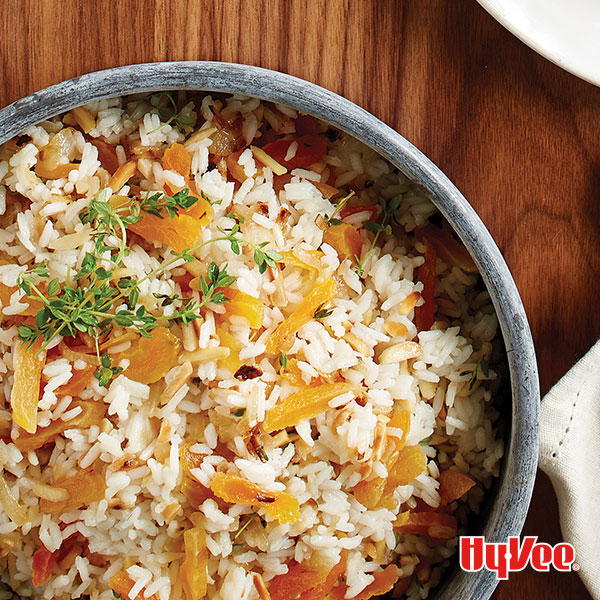 Almond-Apricot Rice Pilaf - Recipe