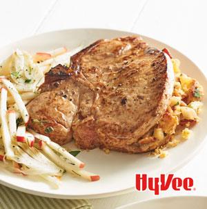 Apple Corn Bread-Stuffed Pork Chops - Recipe
