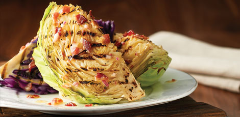 Cabbage with Bacon-Mustard Dressing