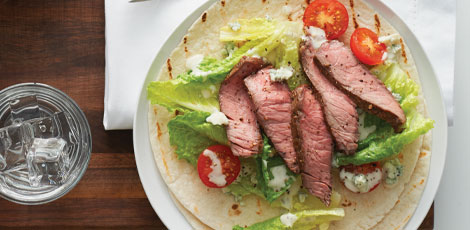 Caesar Steak Wraps