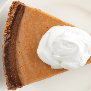 Chiffon and Chocolate Pumpkin Pie - Recipe