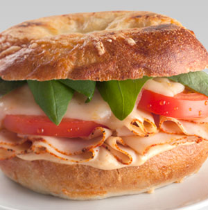 Chipotle Chicken Bagel Panini