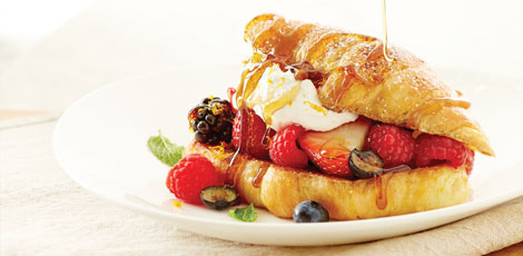 Croissant French Toast with Berries and Cream