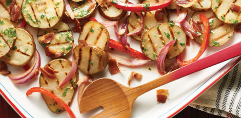 Grilled Potato Salad with Pancetta