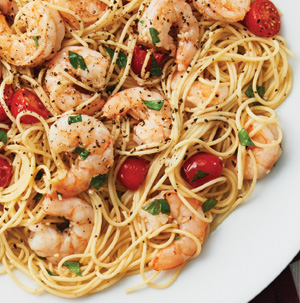 Shrimp pasta with lemon recipe