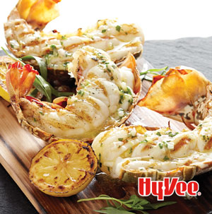 Planked Lobster Tails Smothered in Tarragon Butter - Recipe
