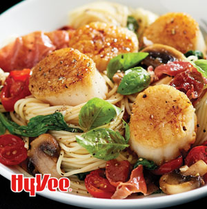 Seared Scallops With Angel Hair Pasta