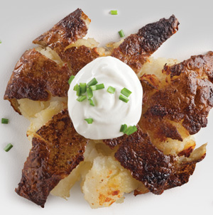 Sour Cream and Chive Roasted Smashed Potatoes - Recipe