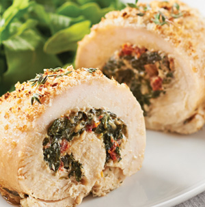 Spinach-Stuffed Chicken Breasts - Recipe