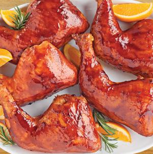 Tangerine Teriyaki Chicken Leg Quarters - Recipe