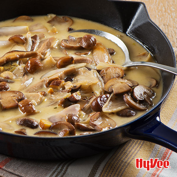 Wild Mushroom Gravy with Chestnuts and Roasted Shallots - Recipe