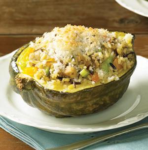 Venison And Wild Rice Stuffed Acorn Squash Recipes — Dishmaps
