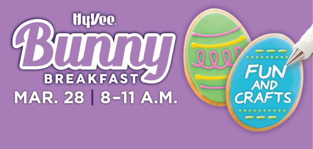 Hy-Vee Bunny Breakfast Fun and Crafts