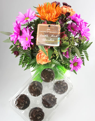 Shop Floral Birthday Caramel Apple Cupcakes Bouquet