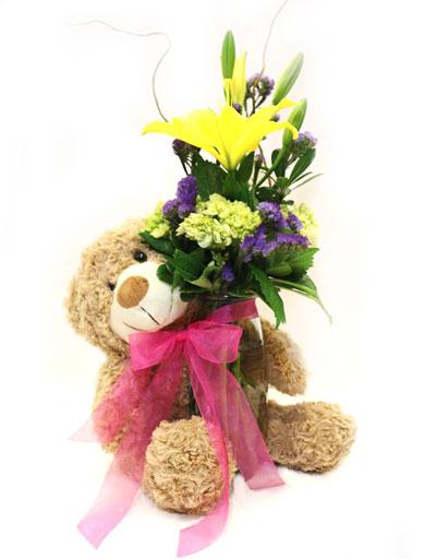 shop floral birthday cuddle me bouquet. Black Bedroom Furniture Sets. Home Design Ideas