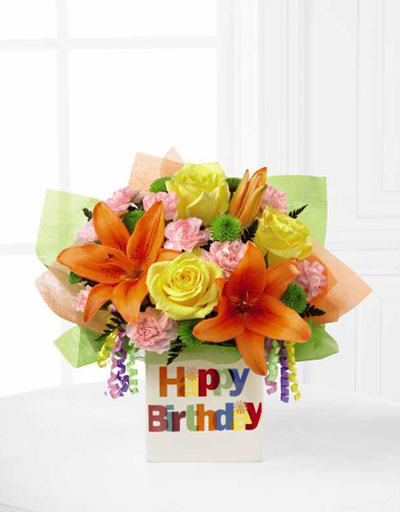 Shop Floral Birthday The FTD Birthday Celebrations Bouquet