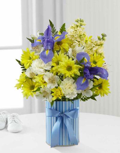 shop floral new baby ftd little miracle bouquet boy. Black Bedroom Furniture Sets. Home Design Ideas