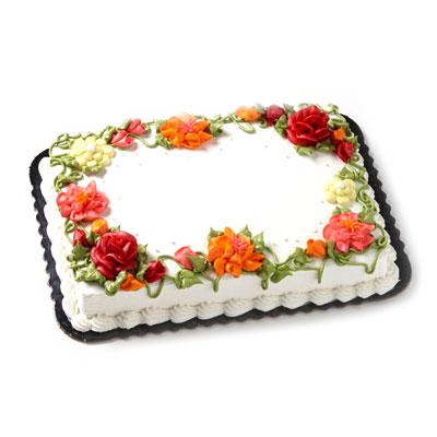Shop Bakery Floral Cakes 2 Flower Bouquet Floral Cake