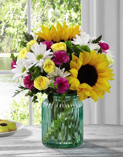 shop floral anniversary the ftd sunlit meadows bouquet. Black Bedroom Furniture Sets. Home Design Ideas