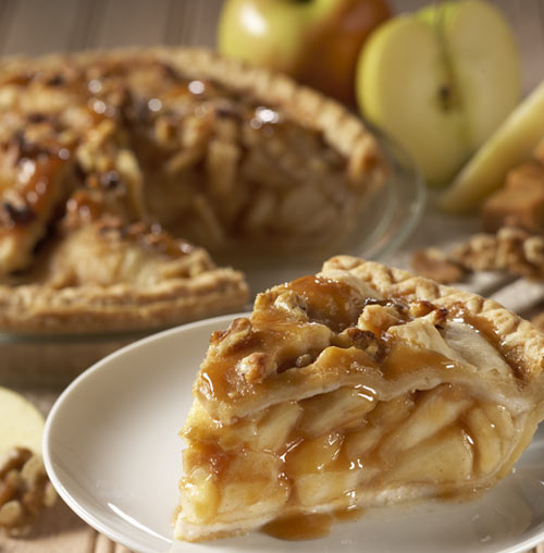 Homestyle Caramel Apple Walnut Pie