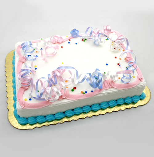 Shop Bakery Party Cakes 8 Pastel Streamer Party Cake