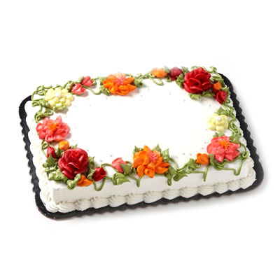 Admirable 2 Flower Bouquet Floral Cake Hy Vee Aisles Online Grocery Shopping Funny Birthday Cards Online Alyptdamsfinfo