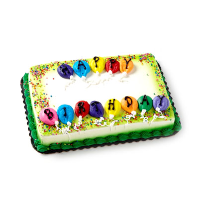 Surprising 4 Happy Birthday Party Cake Hy Vee Aisles Online Grocery Shopping Funny Birthday Cards Online Alyptdamsfinfo