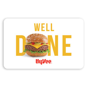 Hy-Vee Gift Card - Well Done (25036)