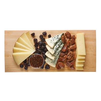 Buttermilk Blue, Manchego & Gruyere Cheese Board