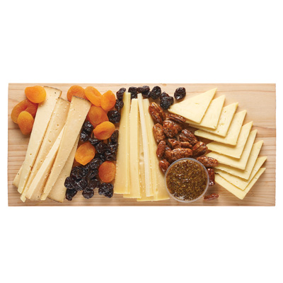 Tickler Cheddar, Parrano & Espresso Bellavitano Cheese Board