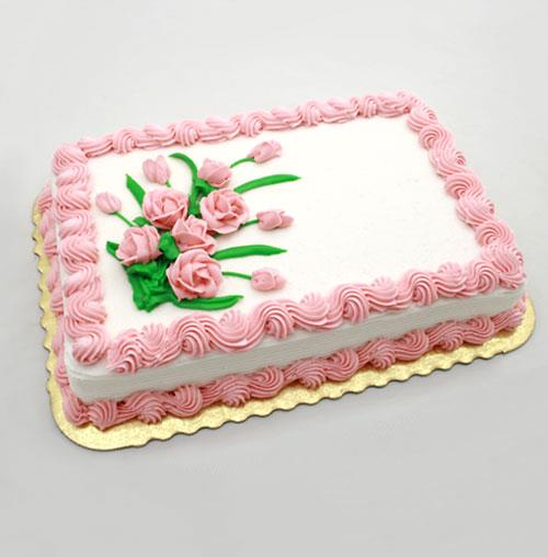 #11 Pink Roses Floral Cake