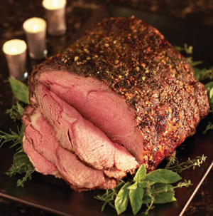 Herb-Crusted Round Roast With Parmesan-Black Pepper Popovers Recipes ...