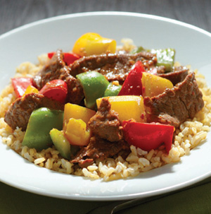 Hoisin Beef and Pepper Stir-Fry