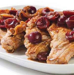 Pork Chops with Cherry Glaze - Recipe