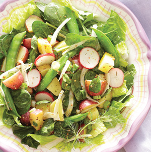 Spring Salad with New Potatoes, Snap Peas and Shaved Fennel - Recipe