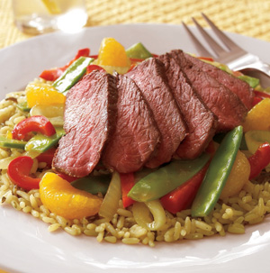 Steak and Orange Sauce Stir-Fry