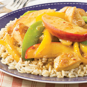 Ginger Chicken and Apple Stir-Fry - Recipe
